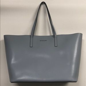 Michael Kors Dusty Blue Emry Leather XL Tote NWT